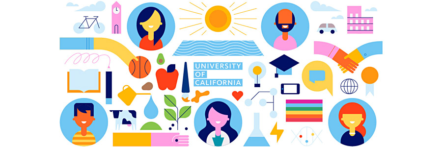 UC SAN DIEGO - TRITON FIRSTS initiative - colorful illustrations, decorative images