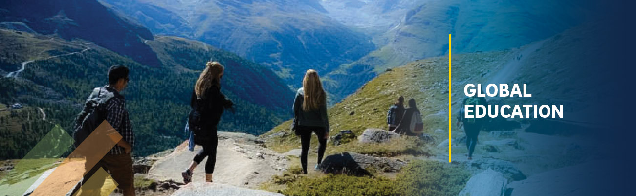 Global Education - students hiking in mountains / UC San Diego